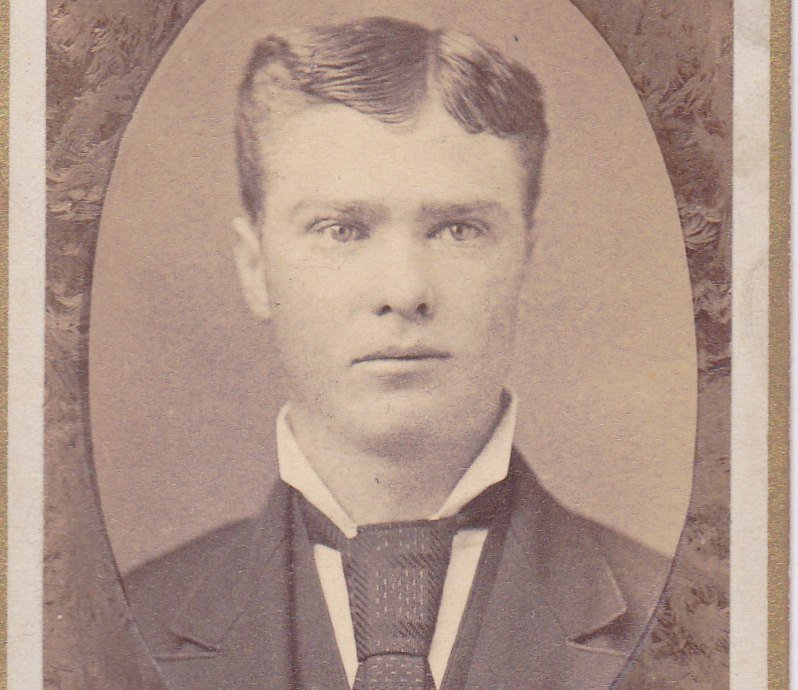 Victorian Memorial- 1800s Antique Photograph- Handsome Man- Pendergast Bros- Traveling Photographers- Indianapolis, Ind- CDV
