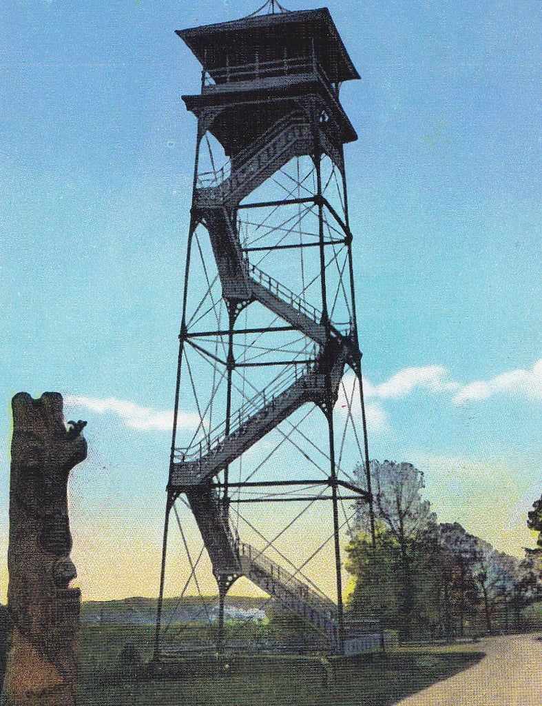 Observation Tower on Oak Ridge- 1930s Vintage Postcard- Gettysburg, Pennsylvania- Civil War Battlefield- Souvenir View- Miller Art Co.- Used
