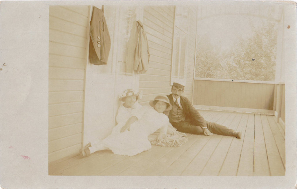 Look of Love- 1900s Antique Photograph- Identical Twin Sisters- Edwardian Romance- Found Photo- Real Photo Postcard- RPPC