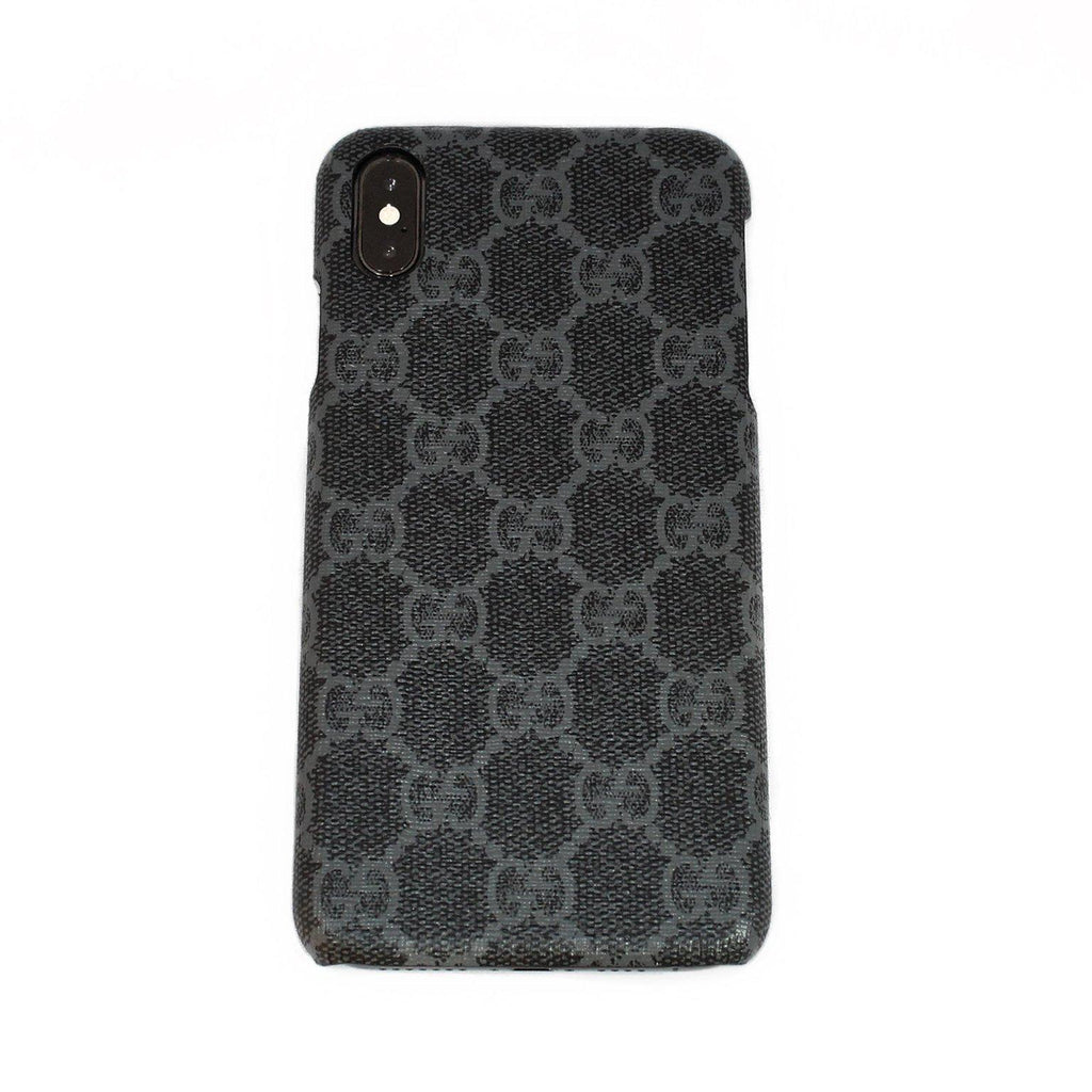 80c820c3a22deb Custom Gucci Black GG Supreme Canvas iPhone Case