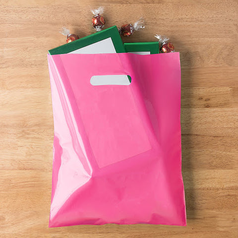 an image of a pink, premium shopping bag