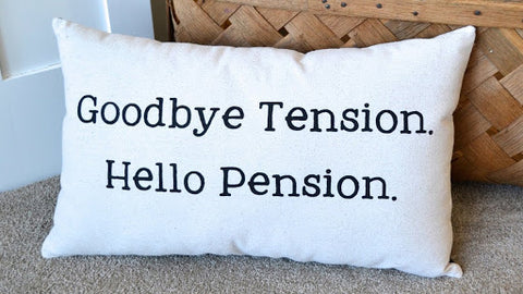 an image of a fun retirement pillow