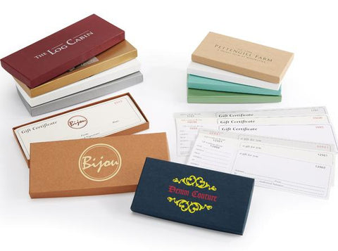 Gift Certificate Boxes