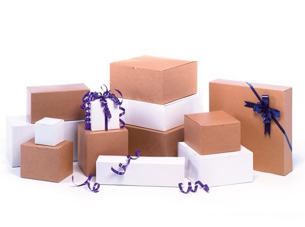 Heavy Weight White Gloss & Natural Kraft Gift Boxes