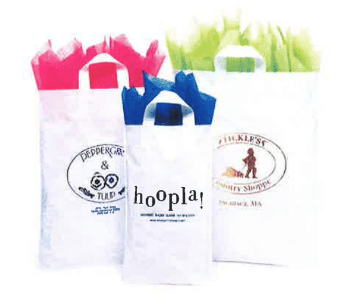 Lo-Density Poly Shopper with Soft Loop Handles Bag