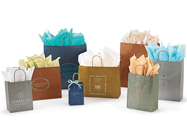 Metallic Tints on Kraft Shopping Bags