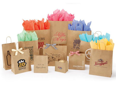 Varnish Stripe Shopping Bags