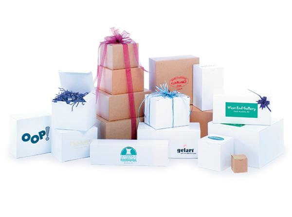 Natural Kraft & White Gloss One Piece Gift Boxes