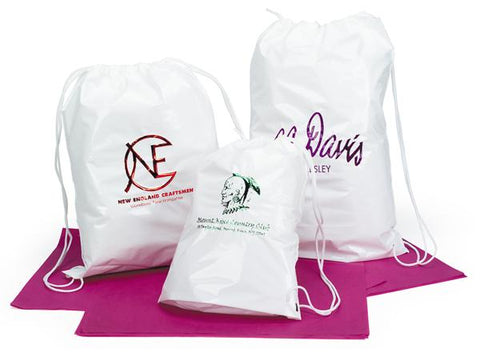 Plastic Shoulder Tote and Backpack Bags with Cotton Drawstring