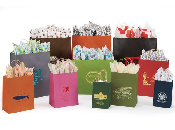 Tinted Kraft Shopping Bags