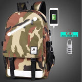 Glow in the Dark USB Charging Backpacks
