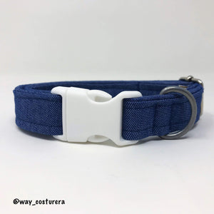 Collar Denim Azul L