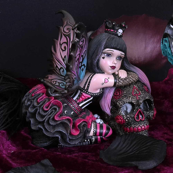 NEMESIS NOW - Little Shadows 'Lolita' Gothic Fairy and Sugar Skull Figurine (4622620590158)