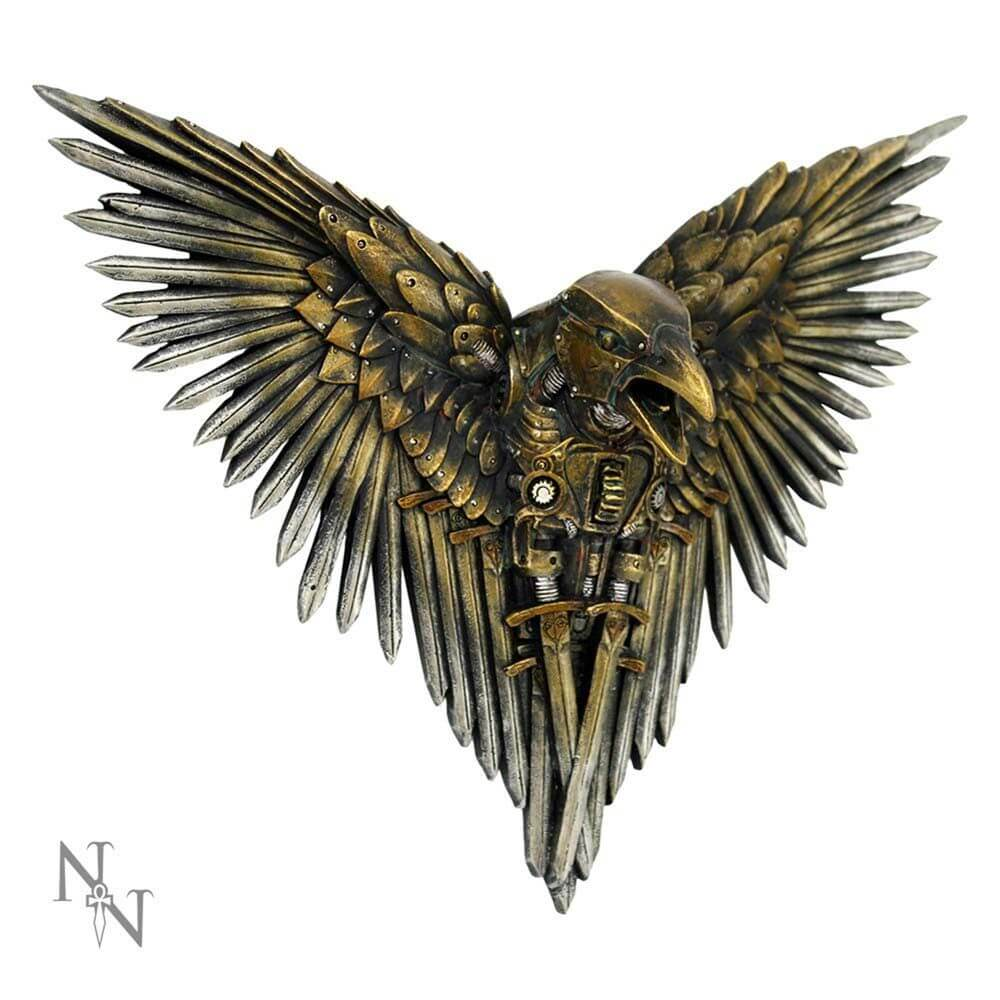 Blade Raven Steampunk Wall Plaque