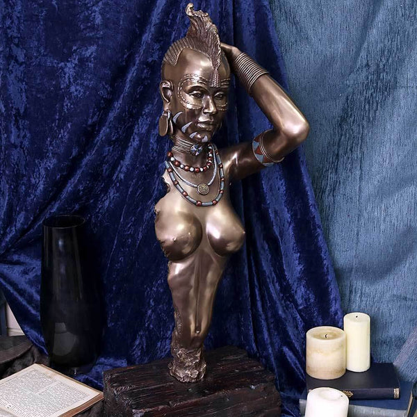 NEMESIS NOW - Wokabi Woman of The Maasai Tribe Bust (4584400060494)