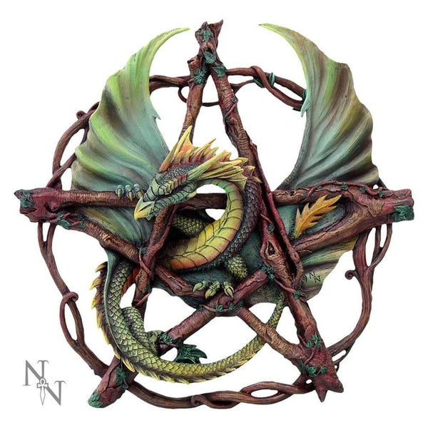 NEMESIS NOW - Forest Pentagram Dragon Wall Plaque By Anne Stokes (4590423277646)