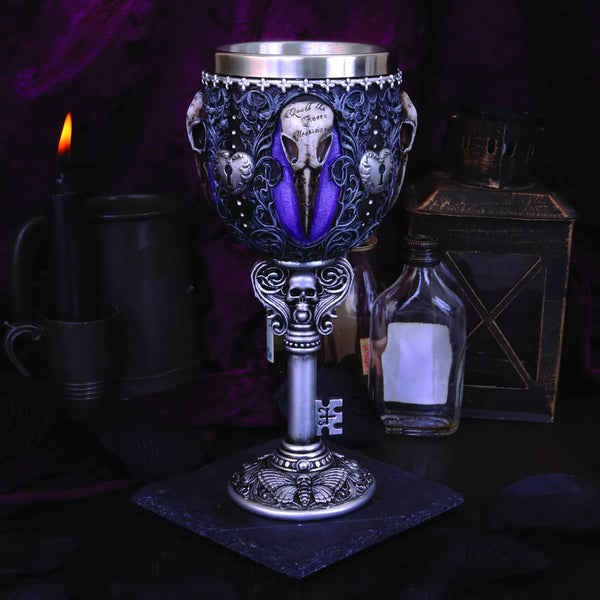 NEMESIS NOW -  Edgar's Raven Goblet - The Alternative Shark (4531569557582)