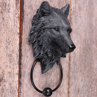 Dark Guardian Wolf Door Knocker