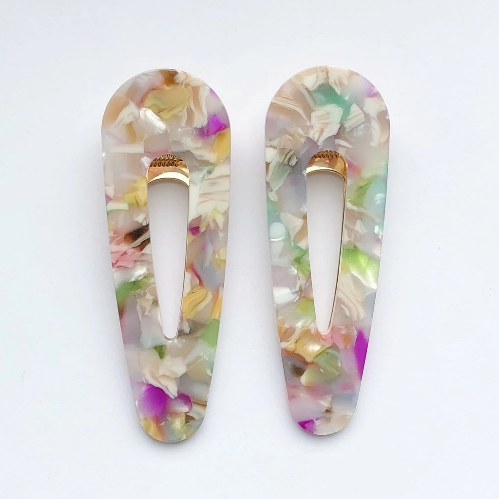 CORA clip in Pastel Marble
