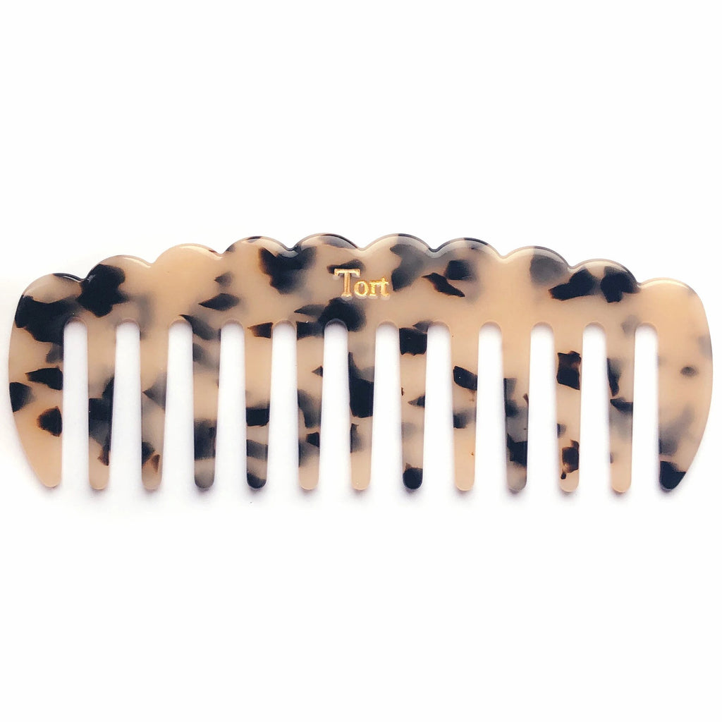 LUCY Comb in Bleached Tortoiseshell