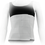 Four Panel Plush Abdominal Binder - 12 inch - Front