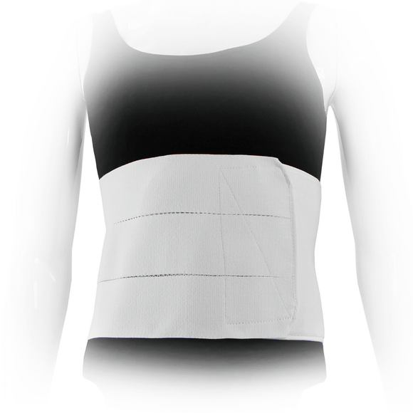 Three Panel Plush Abdominal Binder - 9 inch - Front