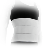Three Panel Plush Abdominal Binder - 9 inch - Right