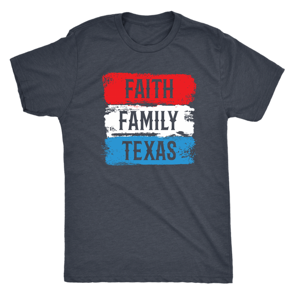 Faith-Family-Texas Men's Tri-blend Tee