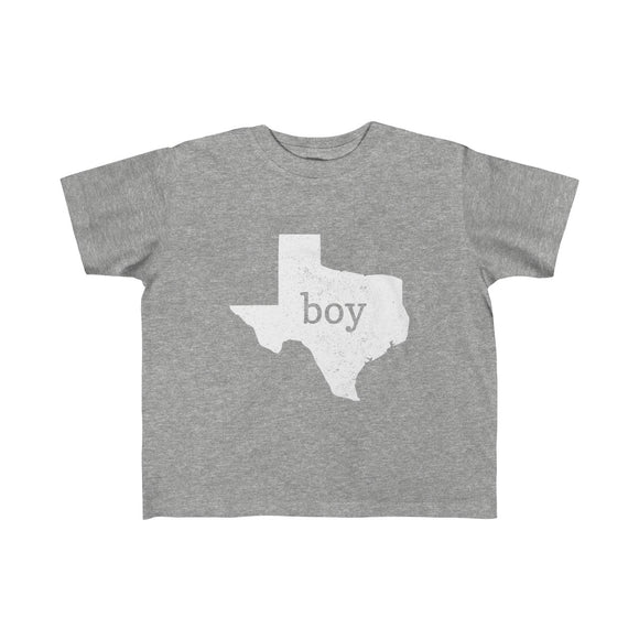 Texas Boy Outline Toddler Fine Jersey Tee