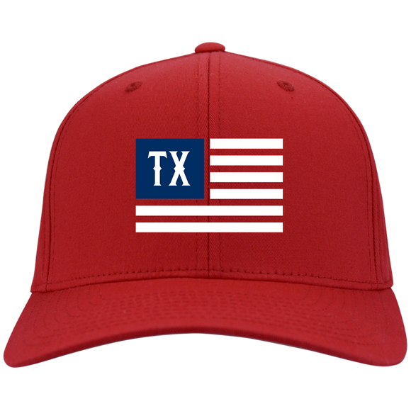 TX-American Flag Flex Fit Twill Baseball Cap