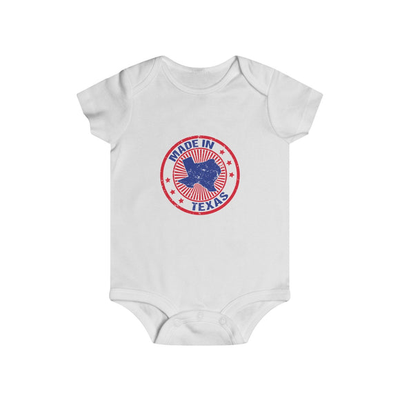 Made in Texas Stamp Infant Snap Onesie