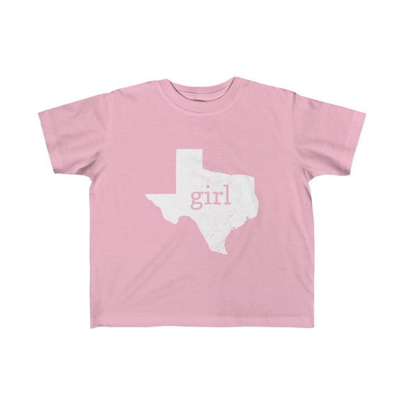 Texas Girl Outline Toddler Fine Jersey Tee