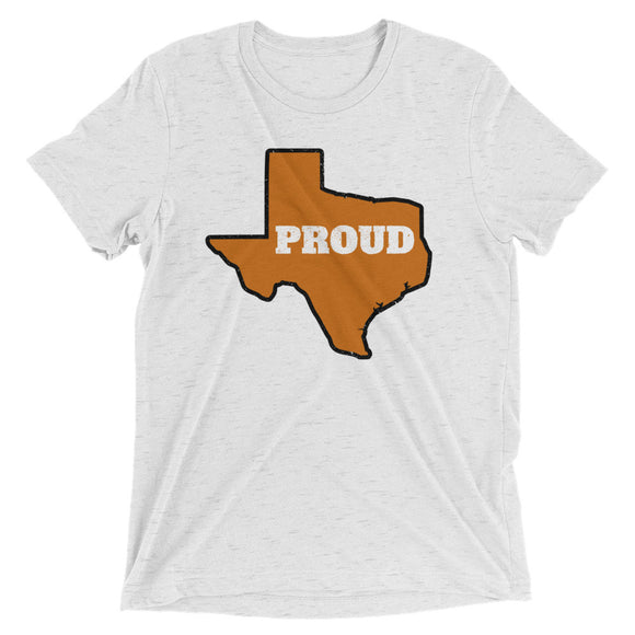 Spirit Burnt Orange/Black PROUD Unisex Tri-blend Tee