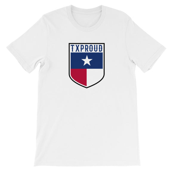 TX Proud Flag Badge Unisex Tee