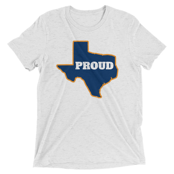 Spirit Navy/Orange PROUD Unisex Tri-blend Tee