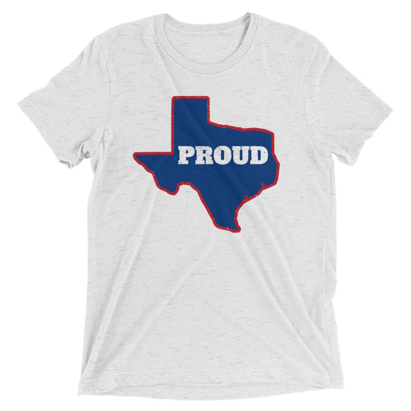 Spirit Blue/Red PROUD Unisex Tri-blend Tee