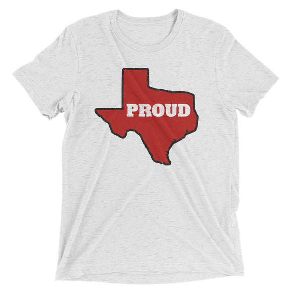Spirit Red/Black PROUD Unisex Tri-blend Tee