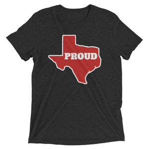 Spirit Red/White PROUD Unisex Tri-blend Tee