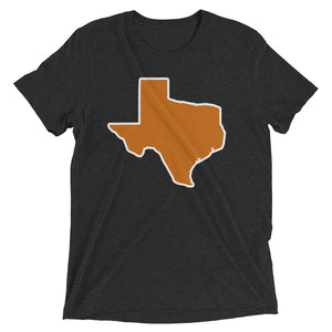 Spirit Burnt Orange/White Unisex Tri-blend Tee
