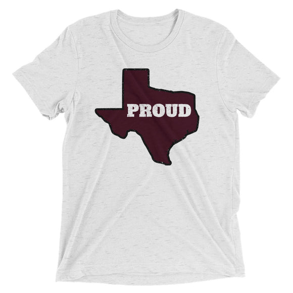 Spirit Maroon/Black PROUD Unisex Tri-blend Tee