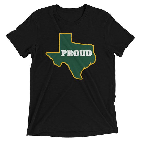 Spirit Green/Gold PROUD Unisex Tri-blend Tee