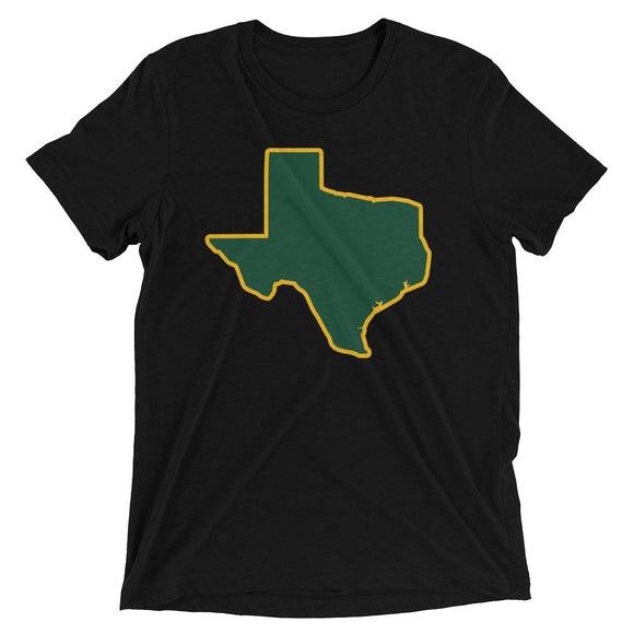 Spirit Green/Gold Unisex Tri-blend Tee