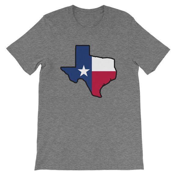 Texas Flag Outline Unisex Tee