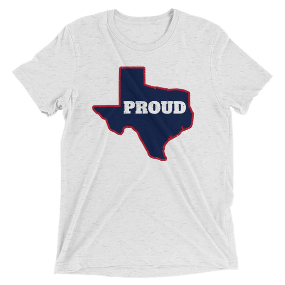 Spirit Navy/Red PROUD Unisex Tri-blend Tee