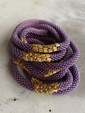 PURPLE METAL PLATE BRACELET