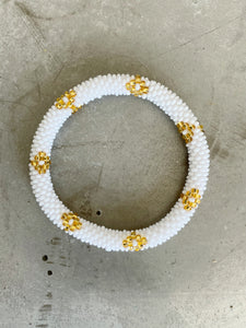 WHITE GOLD STAR BRACELET