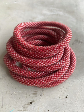 DUSTY RED SOLID BRACELET