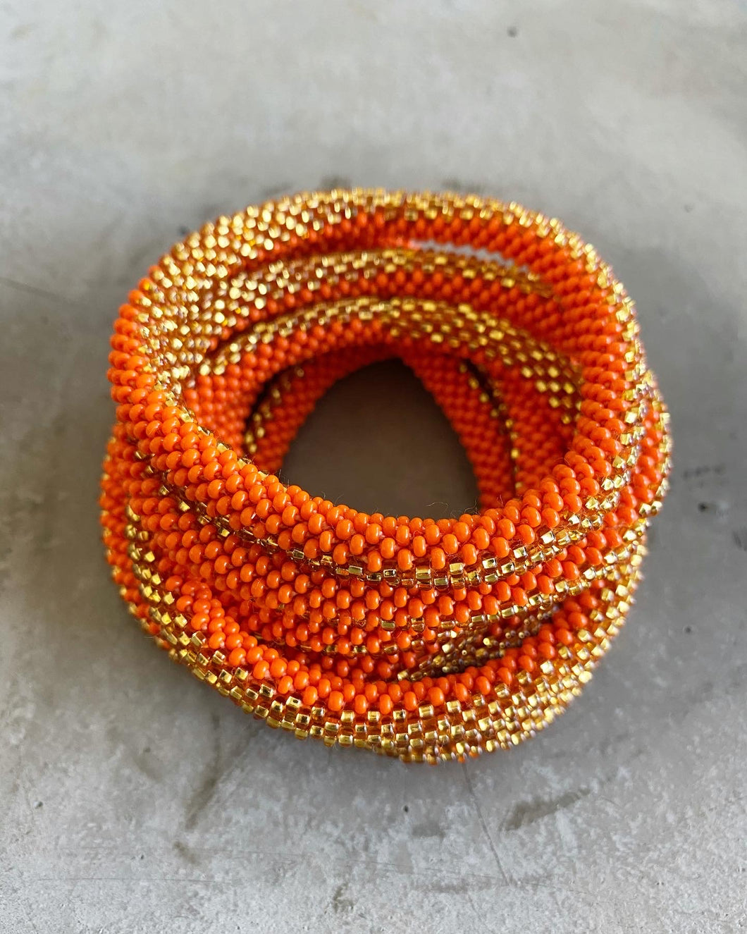 ORANGE GOLD RUSH BRACELET