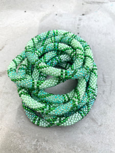 GREEN BRAIDING BRACELET
