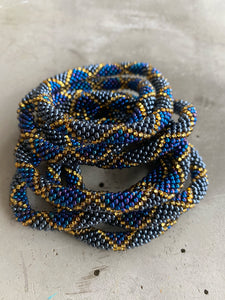 DARK BLUE CHECK BRACELET